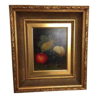 Framed Still Life Oil Painting on Canvas