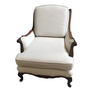 Vintage Carved Upholstered Chair