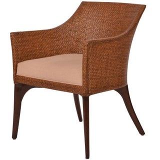 Palecek Rattan Barrel Back Chairs - A Pair