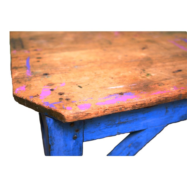 Reclaimed Wood Coffee Table Ireland: Reclaimed Wood Blue Coffee Table