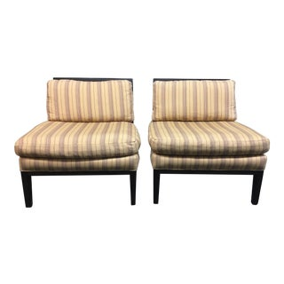 Cisco Armless Lounge Chairs - A Pair