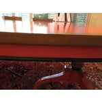 Image of Vintage Coral Expandable 2 Pillar Dining Table