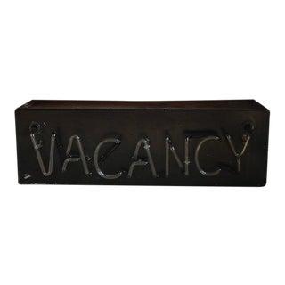 """1930s Neon """"Vacancy"""" Sign"""
