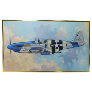 Troy White P-51 Fighter Airplane Painting