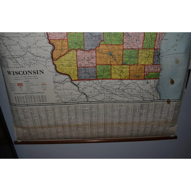 Classroom Map of Wisconsin Wall Mount - Image 9 of 10
