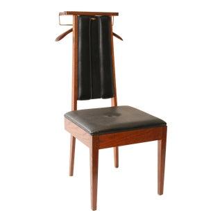 Mid Century Modern Black Vinyl Butler Chair