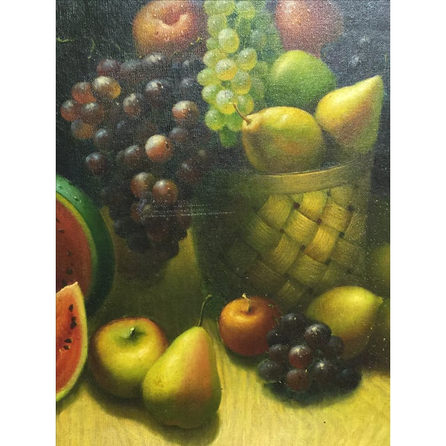 Oil on Canvas Still Life Painting - Image 3 of 4