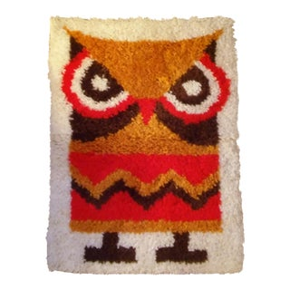 Retro Owl Tapestry Wall Hanging