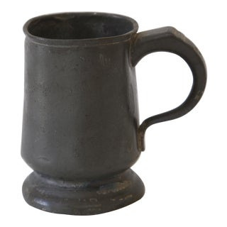 18th Century Antique Pewter Mug