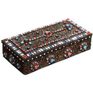 Indian Box with Semi-Precious Stones