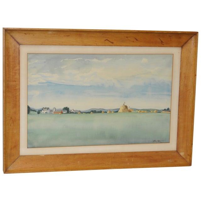 Impressionist Midwest Farm Landscape C.1939 - Image 1 of 7