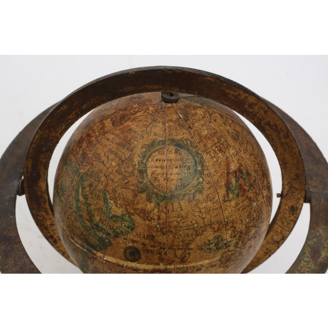 Italian Mini Old World Globe with Brass stand - Image 7 of 10