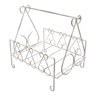 Shabby Scrolled Metal Magazine Rack