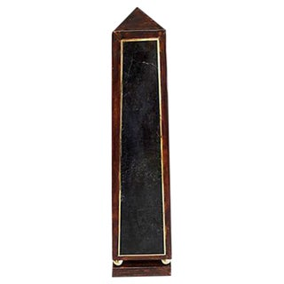 Maitland-Smith Marble & Leather Obelisk