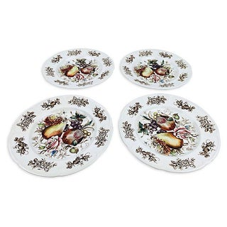 Pomegranate English Dessert Plates - Set of 4