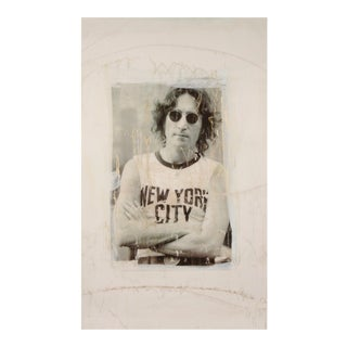 John Lennon Signed Original Abstract Mixed Media Painting
