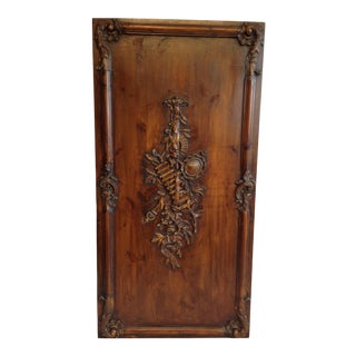 French Carved Wood Panel, Circa 1880