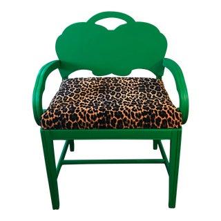 Green & Leopard Chair Bench