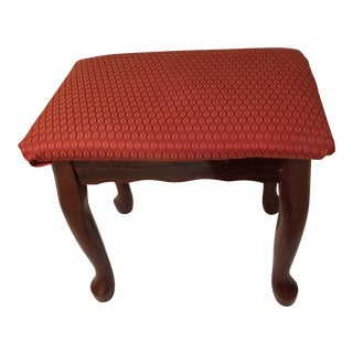 Vintage Red Holiday Rosewood Bench