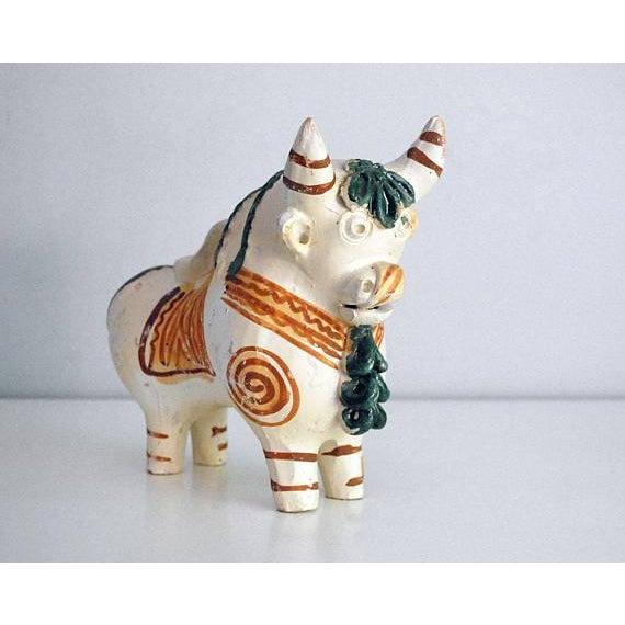 Vintage Peruvian Pottery Bull, Terra Cotta Torito De Pucara - Image 2 of 8
