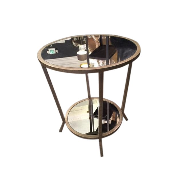 Julian Chichester Two Tiered Mirrored Table - Image 1 of 7