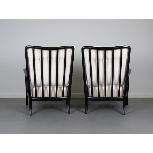 1950s Paolo Buffa Style Lacquered Italian Lounge Chairs - A Pair - Image 5 of 8
