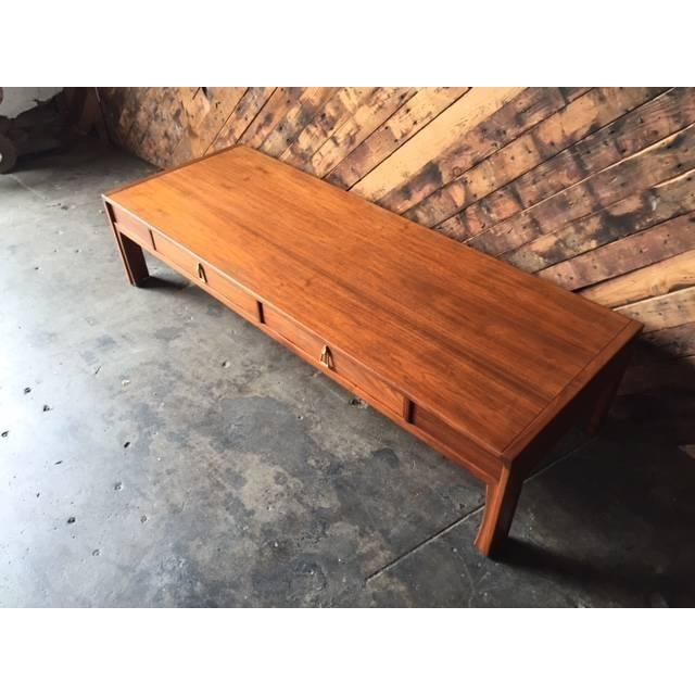 Image of Brown Saltman Mid Century Walnut Coffee Table
