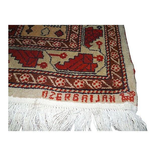 "Vintage Rust Striped Azerbaijani Rug - 4' x 5'8"" - Image 2 of 4"