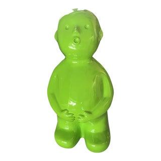 Bright Green Boy Sculpture