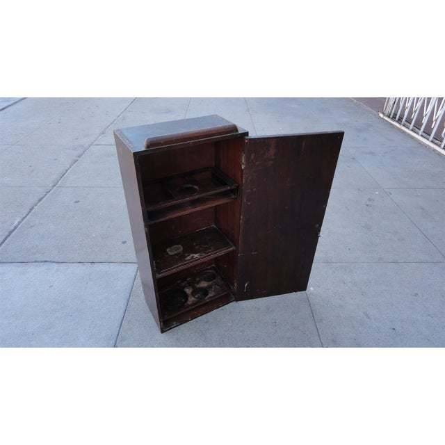 Image of Wall Mounted Solid Mahogany Bar