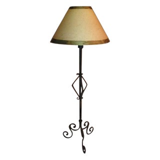 Designer Wrought Iron Standing Floor Lamp