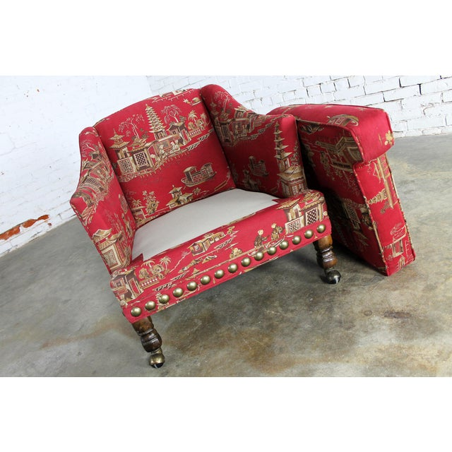 Vintage Chinoiserie Petite Red Armchair & Cricket ...