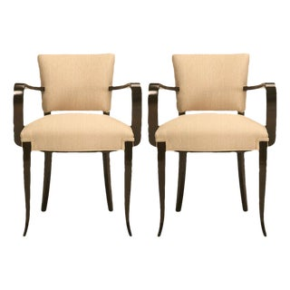 Restored Vintage French 40's Bridge Chairs - A Pair