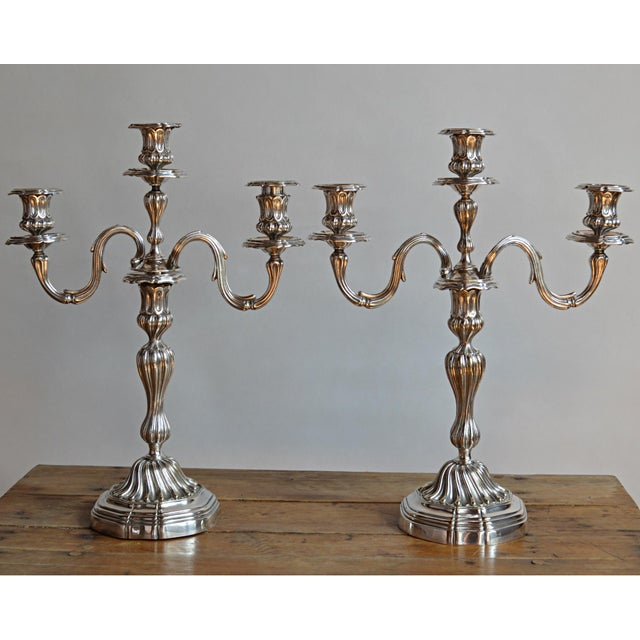 Christofle Silverplate Candelabras - a Pair - Image 2 of 10