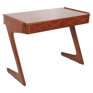 Rare Modern Teak Inlaid Z-Style Desk