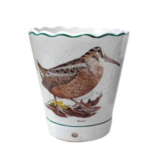 Bobwhite & Woodcock Porcelain Pot