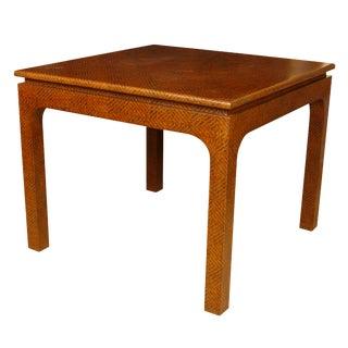 Karl Springer Style Woven Raffia Game Table
