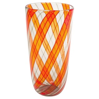 1960s Murano Glass Ribbon Vase
