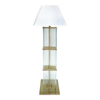Gaetano Sciolari Glass Rod Floor Lamp