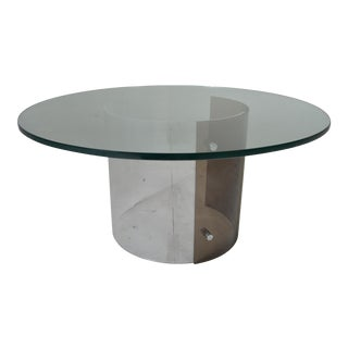 Mid-Century Cocktail Table With Chrome and Lucite Base -Charles Hollis Jones