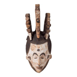 Wall-Mounted Carved Wood Sculpture of Igbo Mask Nigeria, Late 19th Century