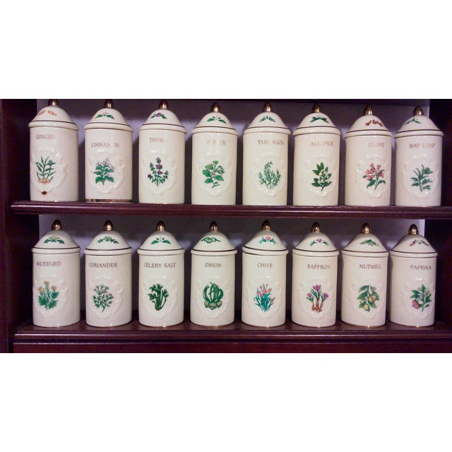 Lenox Porcelain Spice Jars with Wall Spice Rack - Set of 24 - Image 5 of 7