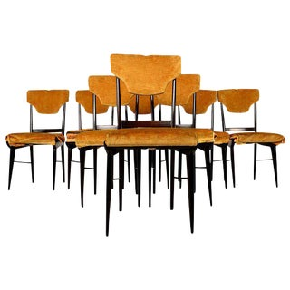 Set of Eight Elegant Italian Dining Chairs