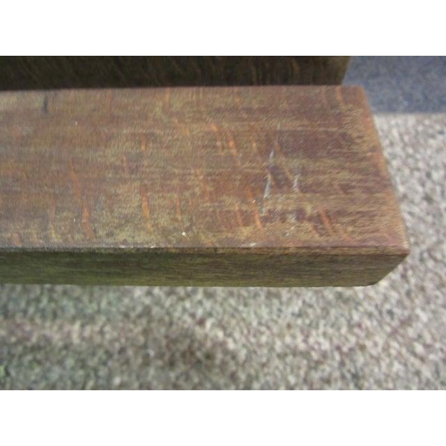 Danish Modern Walnut Slat Bench Coffee Table - Image 7 of 11