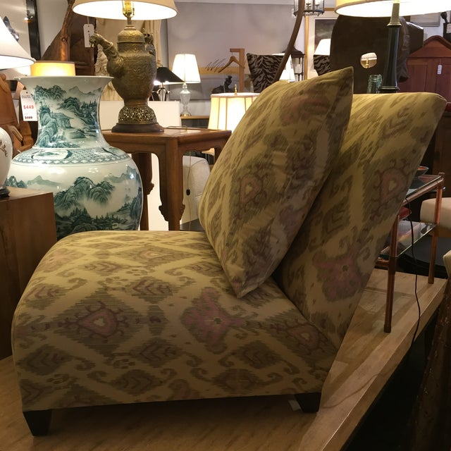 Donghia Villa Custom Ikat Chair - Image 6 of 11