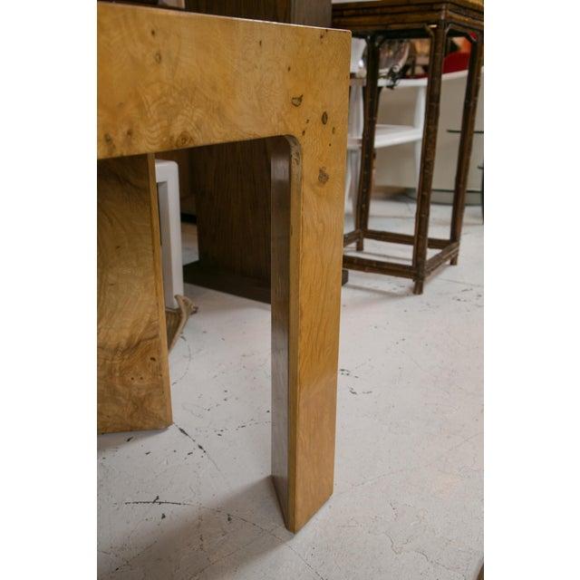 Image of Mid-Century Burl Wood Console