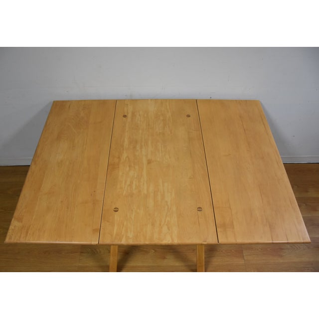 Mid-Century Maple Drop Leaf Dining Table - Image 3 of 11