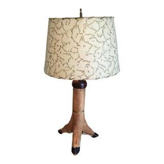 Mid-Century Deer Hoof Lamp