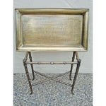 Image of Removable Brass Metal Tray Table