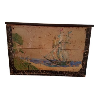 Antique Shabby Fairytale Pirate Storage Trunk